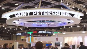 Ryssland St Petersburg, JUNI 2017 - St Petersburg internationellt ekonomiskt forum arkivfilmer