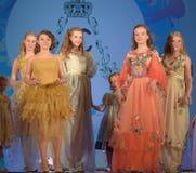 Ryssland St Petersburg 01,06,2019 medmänsklig festival XVII av barns kreativitet royaltyfri foto