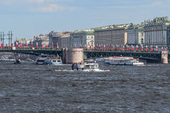 Ryssland St Petersburg, Neva Arkivfoton