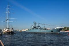 Ryssland St Petersburg, Neva Arkivfoto