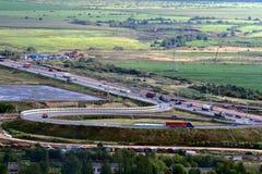 Ryssland St Petersburg Ring Road, vehicular traffi Fotografering för Bildbyråer