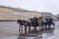 Ryssland St Petersburg, slottfyrkant Royaltyfri Fotografi