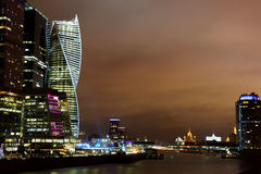 Ryssland stad moscow Affärsmitten Royaltyfri Foto