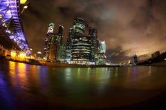 Ryssland stad moscow Affärsmitten Royaltyfria Foton