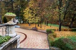 Ryssland Stavropol region Semesterorten parkerar i Kislovodsk Fotografering för Bildbyråer