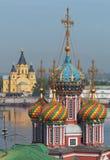 Ryssland Tempel av Nizhny Novgorod Royaltyfri Bild