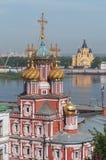 Ryssland Tempel av Nizhny Novgorod Royaltyfria Foton