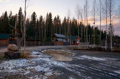 Ryssland Territorium av den Talvi Ukko för hundbarnkammare` `en, November 14, 2017 Arkivbilder