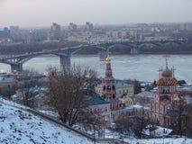 Ryssland Tur till centrala Ryssland Nizhny Novgorod Vinter royaltyfri foto