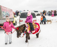 Ryssland Uglich, Februari 07 Festivalen av Royaltyfri Foto