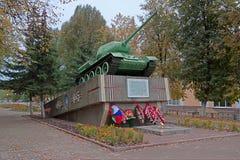 Ryssland Unecha T34-85 behållare - en monument till hjältarna av Gren Royaltyfri Fotografi