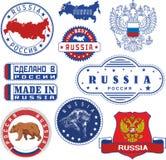 Ryssland Uppsättning av generiskt stämplar och tecken Royaltyfri Foto