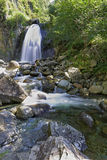 Ryssland vattenfall i bergen av Altai Royaltyfri Foto