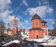 Ryssland Vysokopetrovsky kloster i Moskva Royaltyfri Bild