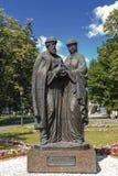 Ryssland yaroslavl Monument till Peter och Fevronia av Murom Arkivfoto