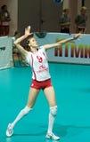 ryssvolleybollkvinnor Fotografering för Bildbyråer