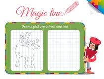 Rysuje obrazek tylko jeden kreskowy rogacz Obrazy Stock