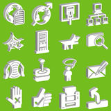 rysunek 3 d ikony ustaloną sieć Zdjęcie Royalty Free