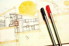 rysunek architektury Zdjęcie Royalty Free
