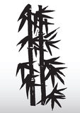 rysunek bambusowa sylwetka Zdjęcia Stock