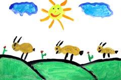 rysunek dziecka real ilustracja wektor