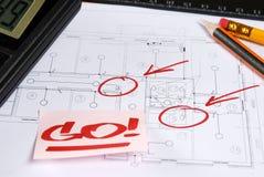 rysunek techniczny Zdjęcia Stock
