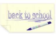 rysunek tylna kredkowa szkoła Obrazy Stock
