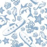 Rysunek Wektorowa ilustracja podwodny świat ilustracji