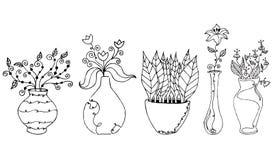 rysunków kwiatu wektor Obrazy Royalty Free