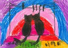 rysunki to dziecko Fotografia Royalty Free