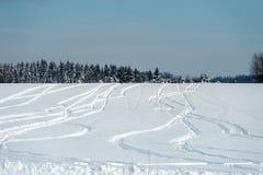 Rysunki w śniegu Zdjęcia Royalty Free