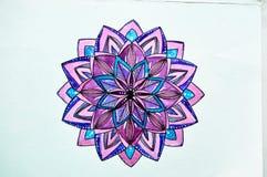Rysunkowa akwarela w stylu zentangl purpur royalty ilustracja