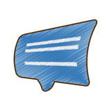 Rysunkowa błękitna bąbel mowy dialog rozmowa ilustracji