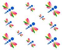 Rysunkowa bezszwowa pościel, tapetowy dragonfly ilustracja wektor
