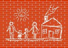 rysunkowa ściana Zdjęcie Royalty Free
