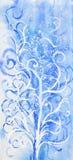 rysunkowa drzewna zima Obrazy Stock