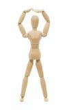 Rysunkowa lala która pozuje OK Zdjęcie Stock