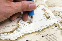 rysunkowa mapy osoby trasa Fotografia Stock
