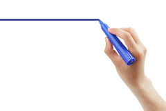 Rysunkowa niebieska linia Zdjęcia Royalty Free