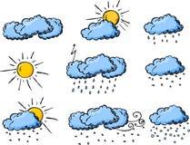 rysunkowa ręki ikon wektoru pogoda ilustracji