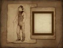 rysunkowa ramowa stara ołówkowa fotografia Zdjęcie Stock