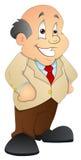 Biznesmen - postać z kreskówki - Wektorowa ilustracja royalty ilustracja