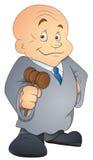 Sędzia - postać z kreskówki - Wektorowa ilustracja ilustracji