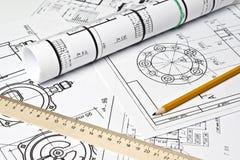 rysunkowa inżynieria zdjęcie stock