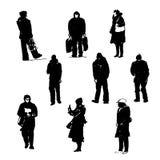 Rysunkowe sylwetki ludzkiego postać graficznego czarnego atramentu pociągany ręcznie ilustracja Zdjęcie Stock