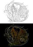 rysunkowego atramentu nowożytna czarownica Fotografia Royalty Free