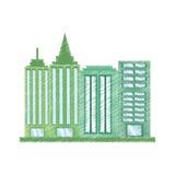rysunkowego budynku biurowa praca royalty ilustracja