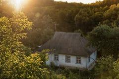rysunkowego domu ilustracyjna wiejska nakreślenia wioska Fotografia Royalty Free