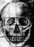 rysunkowego istoty ludzkiej papieru ołówka przerobowy czaszki rocznik Zdjęcie Stock
