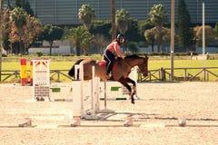 rysunkowej dziewczyny końskie jeździeckie serie vector zachodni dzikiego zdjęcie stock